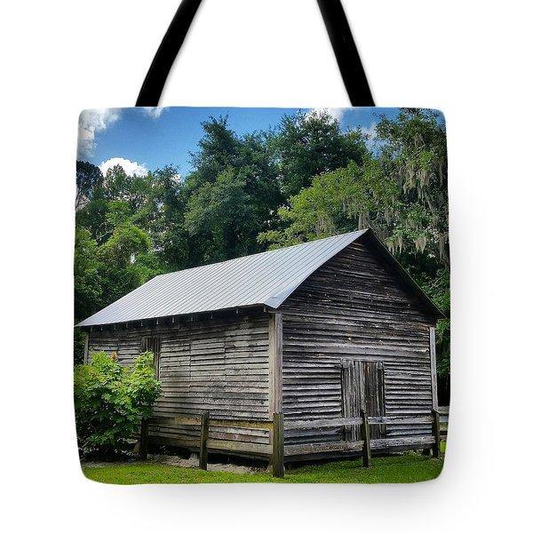 Old Barn At Falling Creek Falls  Tote Bag
