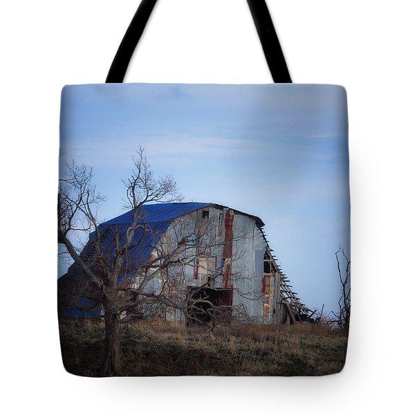 Old Barn At Hilltop Arkansas Tote Bag