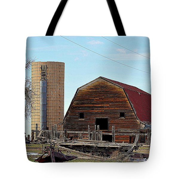 Old Barn Tote Bag by Clarice  Lakota