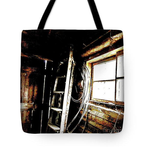 Old Barn Ladder Tote Bag
