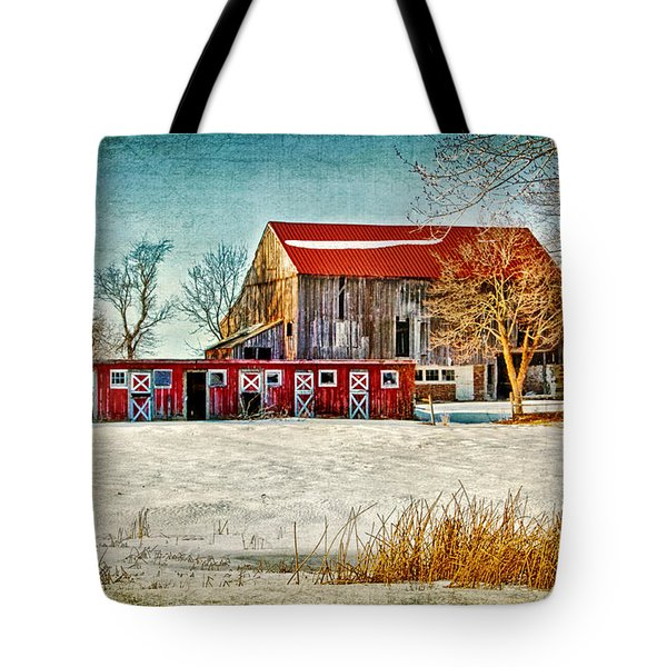 Old Barn On Forrest Road Tote Bag