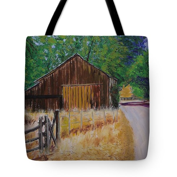 Old Barn Sonoma County Tote Bag by Mike Caitham