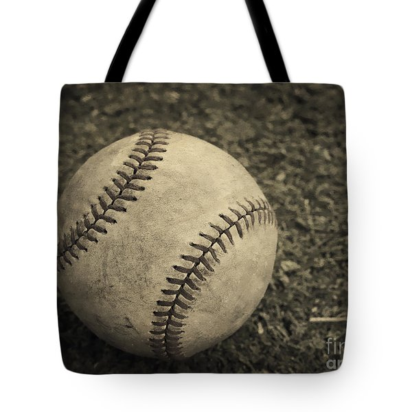 Old Baseball Tote Bag by Edward Fielding