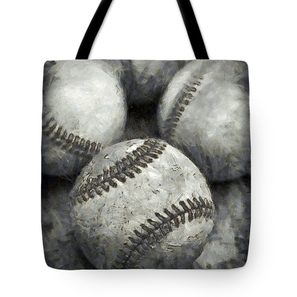 Old Baseballs Pencil Tote Bag