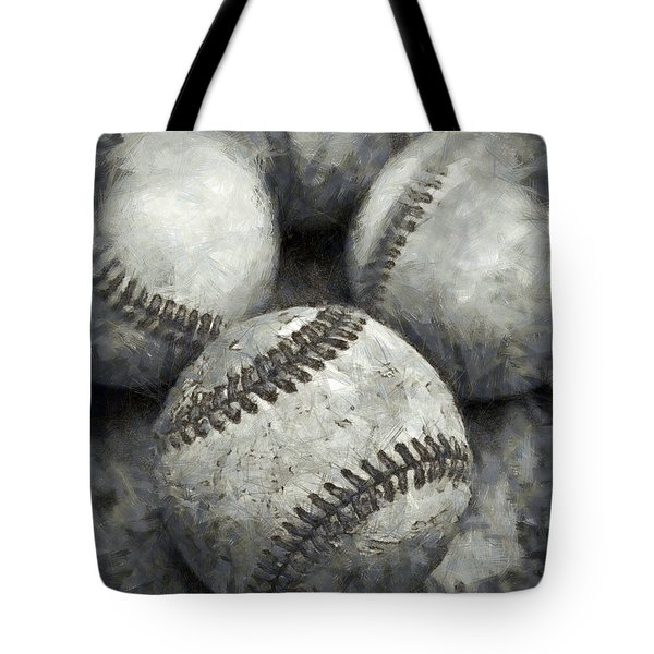 Old Baseballs Pencil Tote Bag by Edward Fielding