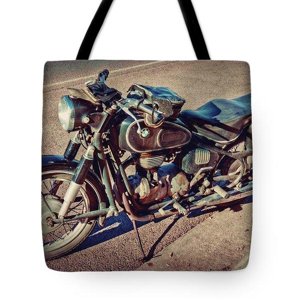 Old Beamer Motorcycle Tote Bag