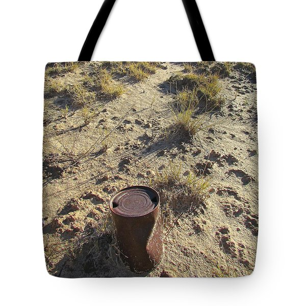 Tote Bag featuring the photograph Old Beer Can by Brenda Pressnall