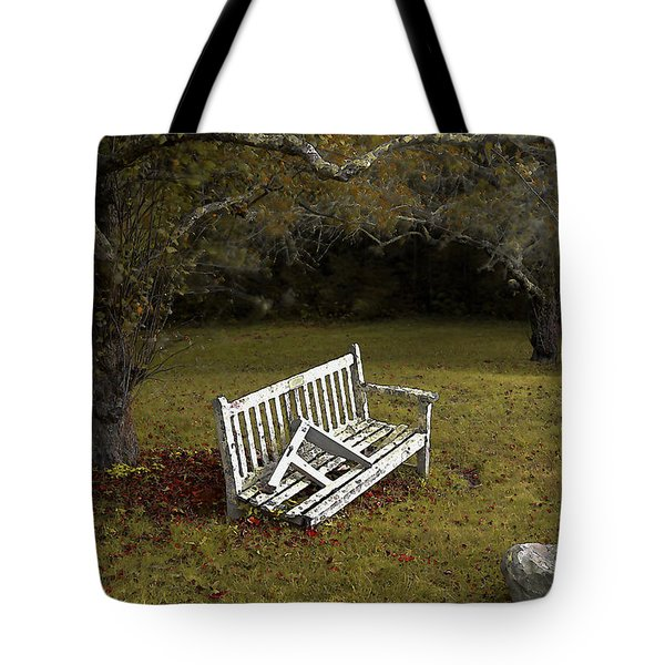Old Benches Tote Bag
