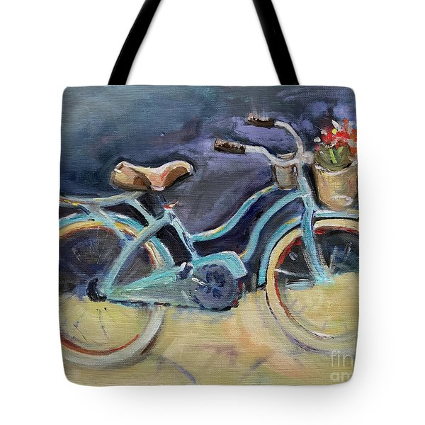 Old Blue Bicycle  Tote Bag