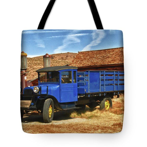 Old Blue 1927 Dodge Truck Bodie State Park Tote Bag by James Hammond