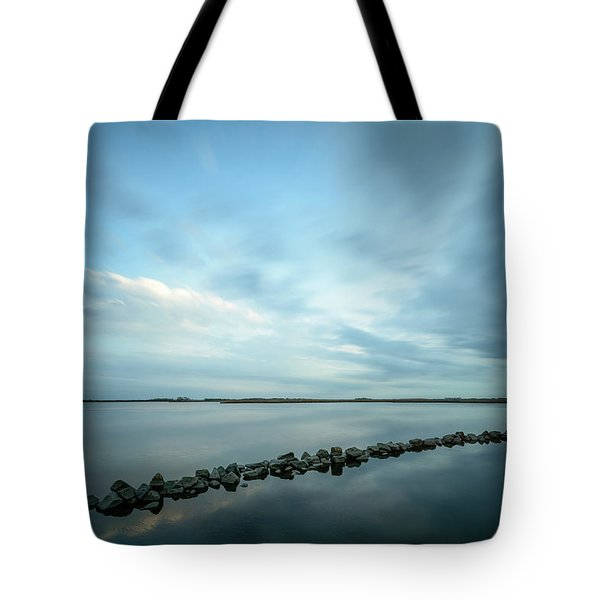 Old Blue Morning Tote Bag