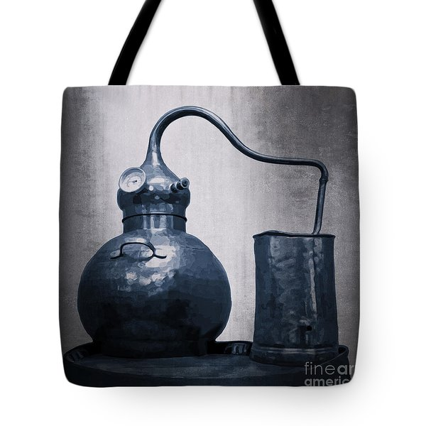 Tote Bag featuring the digital art Old Blue Still by Megan Dirsa-DuBois