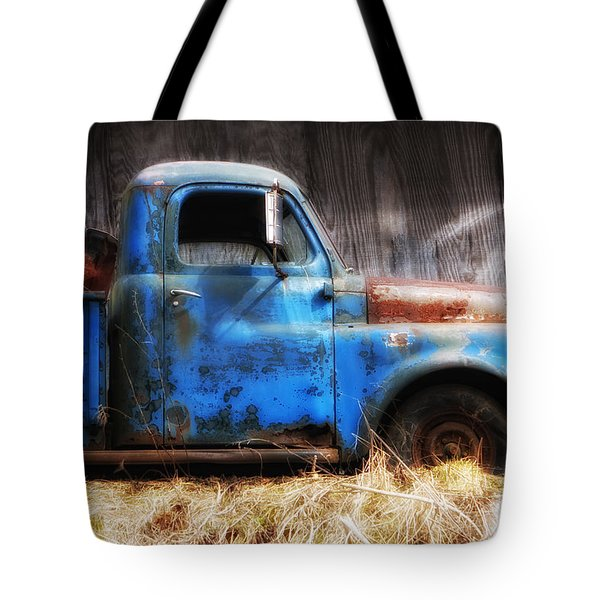 Old Blue Truck Tote Bag