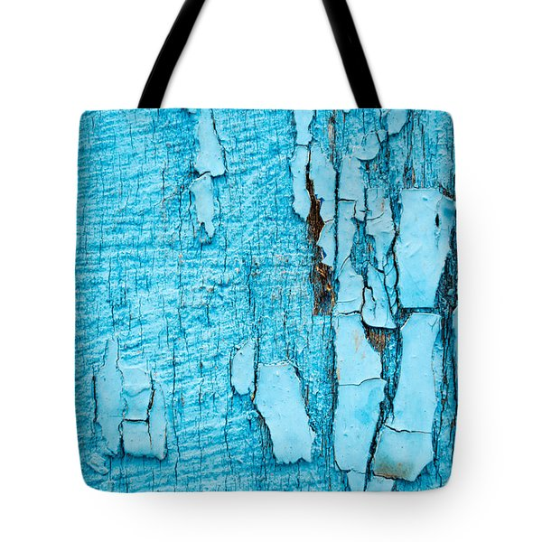 Old Blue Wood Tote Bag