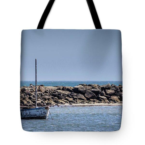 Old Boat - Half Moon Bay Tote Bag