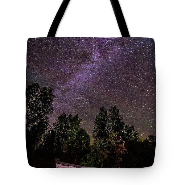 Old Boat Under The Stars Tote Bag