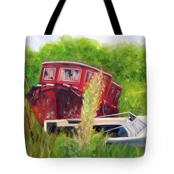 old boats in Belford Tote Bag
