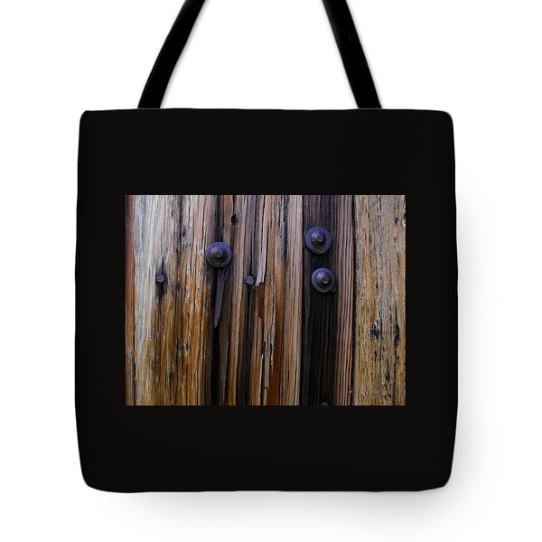 Old Door With Bolts And Nails Tote Bag