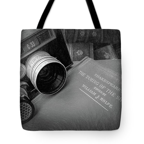 Old Books And Cameras Tote Bag
