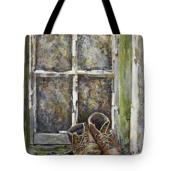 Old Boots Tote Bag by Marty Garland