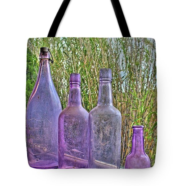 Old Bottle Collection Tote Bag
