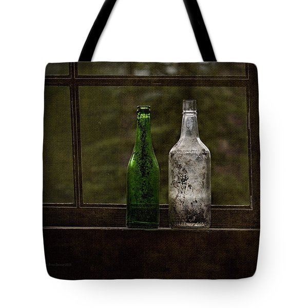 Old Bottles In Window Tote Bag