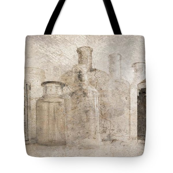 Old Bottles With Texture Tote Bag