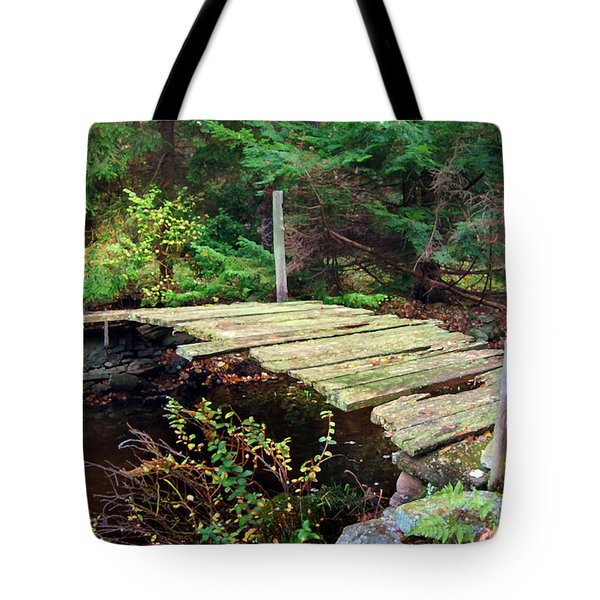 Tote Bag featuring the photograph Old Bridge by Francesa Miller