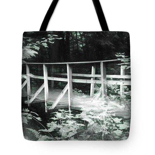 Old Bridge In The Woods Tote Bag