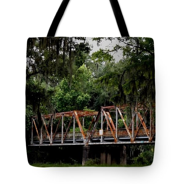 Old Bridge To Town Tote Bag