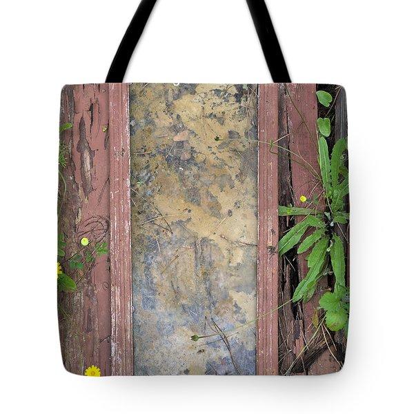 Old Broken Door And Nature Tote Bag