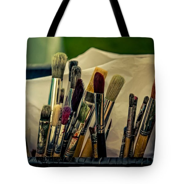 Old Brushes Tote Bag
