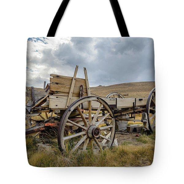 Old Buckboard Wagon Tote Bag
