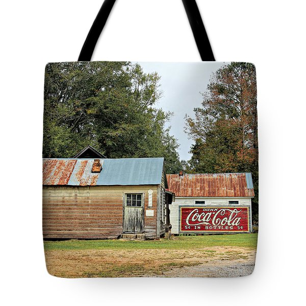 Old Buildings At Burnt Corn Tote Bag