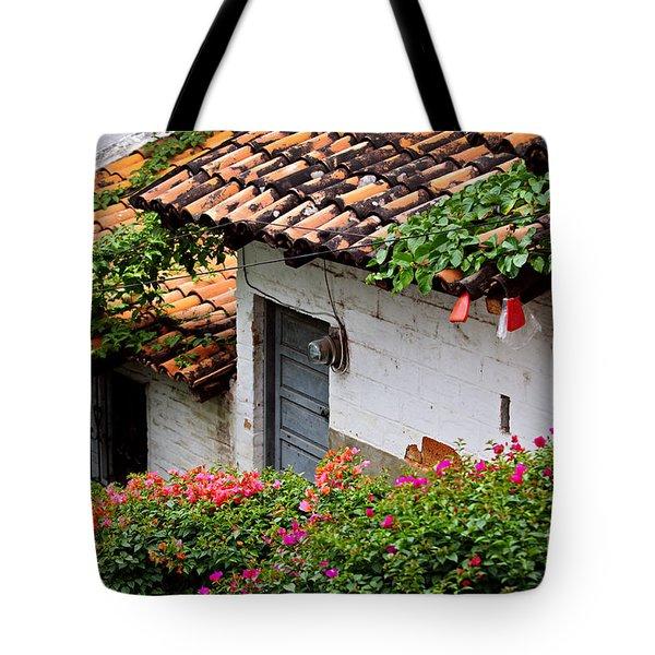 Old Buildings In Puerto Vallarta Mexico Tote Bag by Elena Elisseeva