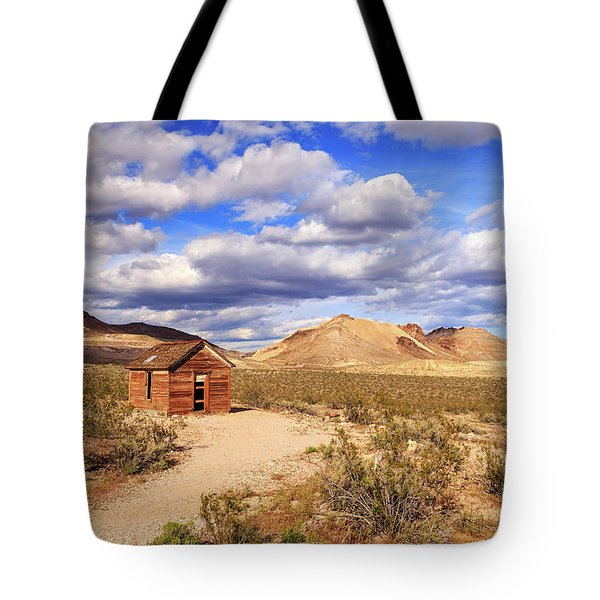 Tote Bag featuring the photograph Old Cabin At Rhyolite by James Eddy