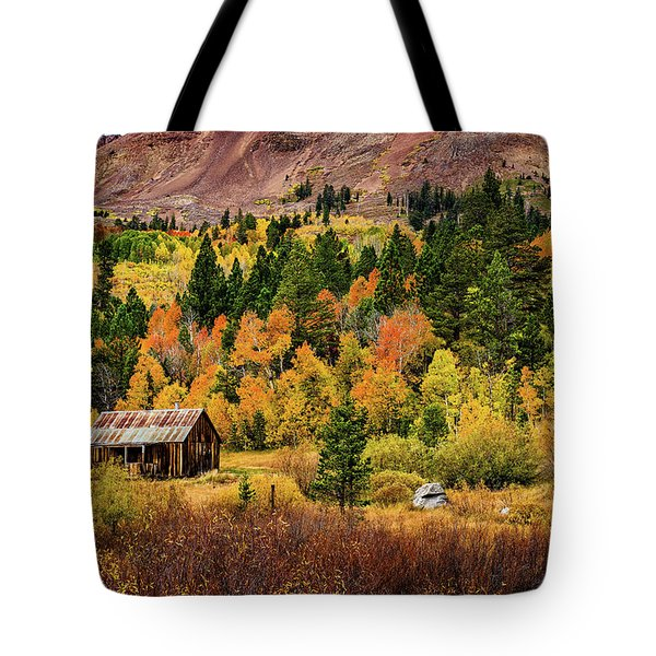 Old Cabin In Hope Valley Tote Bag