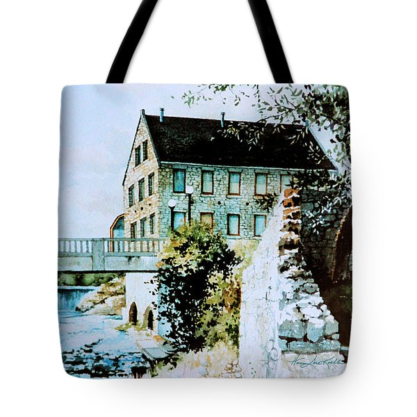 Old Cambridge Mill Tote Bag by Hanne Lore Koehler