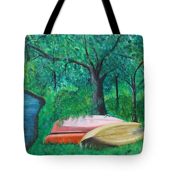 Old Canoes Tote Bag