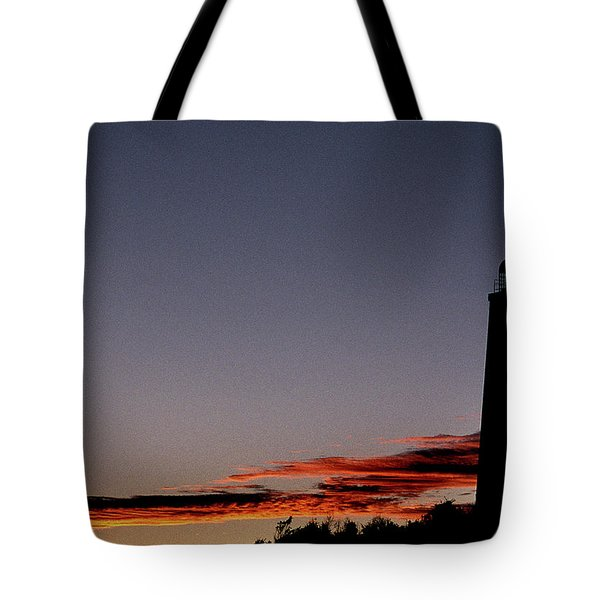 Old Cape Henry Sunrise Tote Bag by Skip Willits