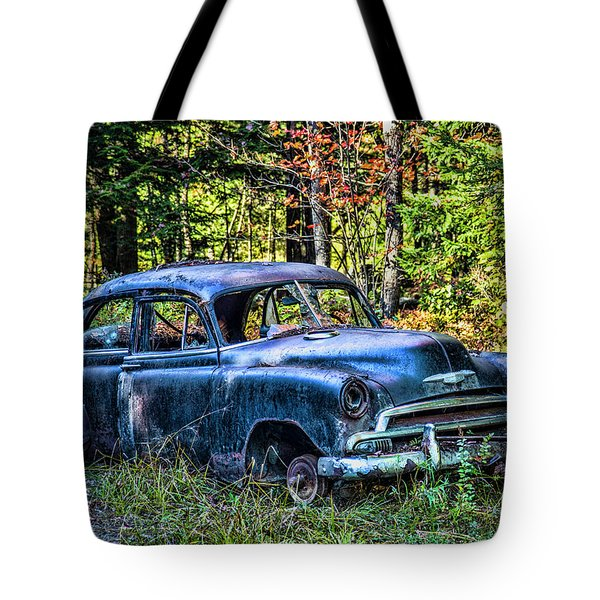 Old Car Tote Bag by Alana Ranney