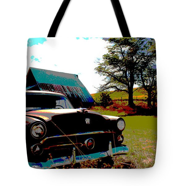 Old Car Tote Bag by Jean Evans