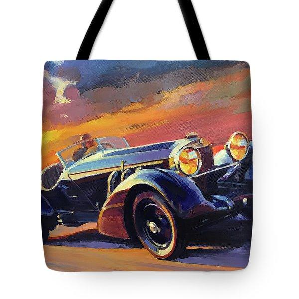 Old Car Racing Tote Bag
