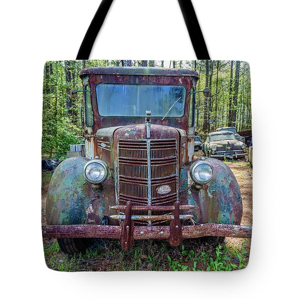 Old Car Smile Tote Bag