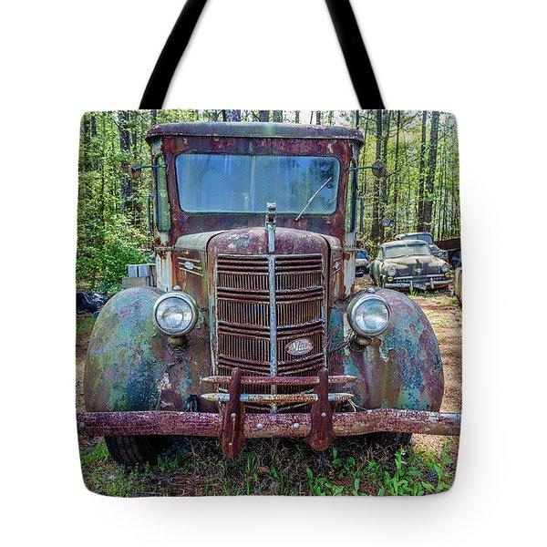 Old Car Smile Tote Bag