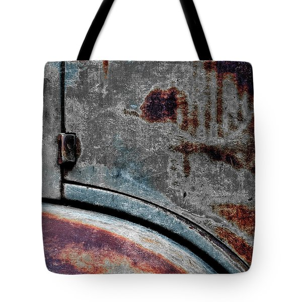 Old Car Weathered Paint Tote Bag
