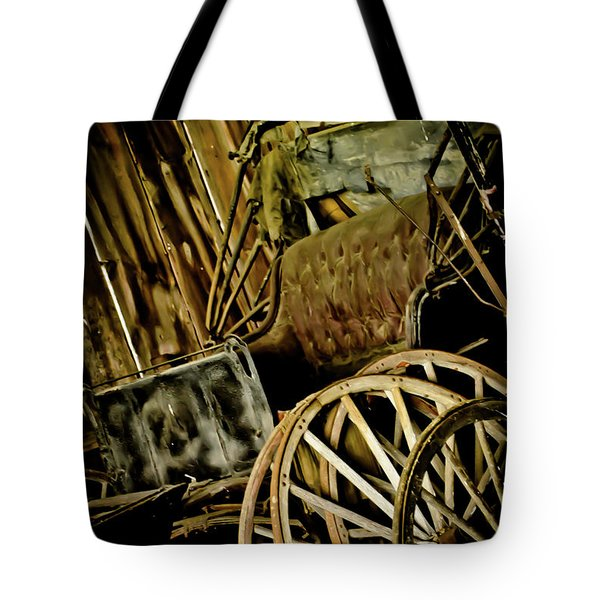 Tote Bag featuring the photograph Old Carriage by Joann Copeland-Paul