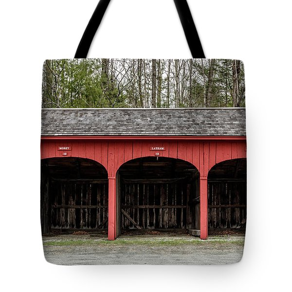 Old Carriage Shed Lyme New Hampshire Tote Bag