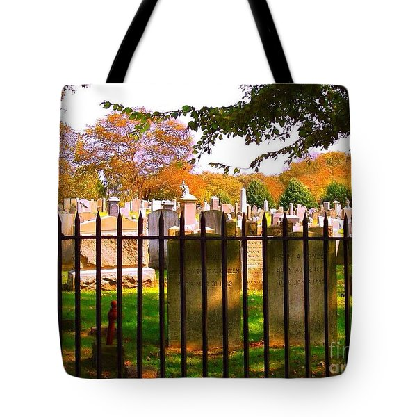 Old Cemetary In Newport Rhode Island Tote Bag