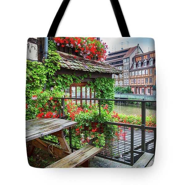 Tote Bag featuring the photograph old center of Strasbourg by Ariadna De Raadt